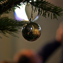 The Church in a Globe by Ciprian Apetrei - Public Holidays Christmas ( church, christmas, brittany, bokeh, globe )