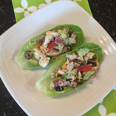 Chicken Bacon Avocado Lettuce Wraps