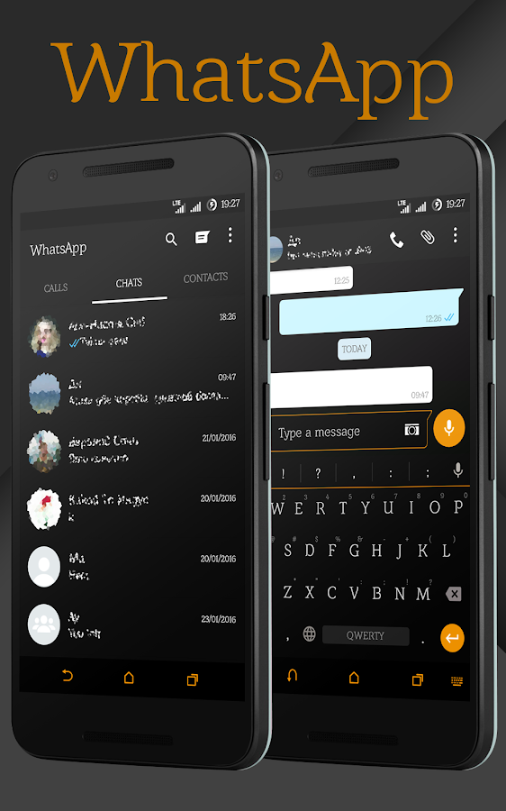Sense Black/Orange cm13 theme Screenshot 7