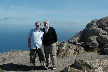 With Harrison Birtwistle, Lanzarote, 2006
