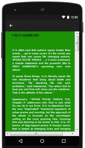 Fred Hammond Songs & Lyrics.