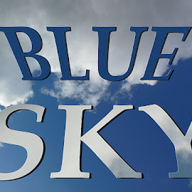 blue sky by Paul Wante - Typography Words ( blue sky, words, illustration, typography, design )