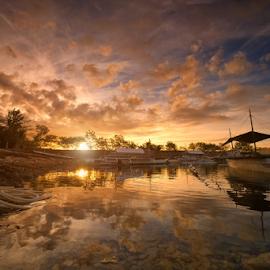 Lovely Sunrise Today by Ferdinand Ludo - Landscapes Sunsets & Sunrises ( lovely sunrise, cebu city, cordoba, mactan island,  )
