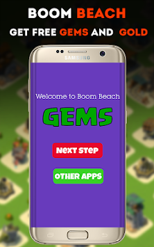 Gems For Boom Beach Prank APK screenshot thumbnail 2