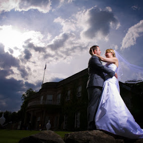 by Steve McNiven-Photography - Wedding Bride & Groom ( leeds wedding photographer, award winning photographer, elinchrom, nikon d3s )