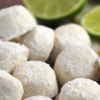 Key Lime Mexican Wedding Cookies