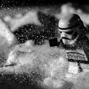 Storm in Storm by Kèn Nugraha - Artistic Objects Toys ( storm trooper, black and white, minifigure, star wars )