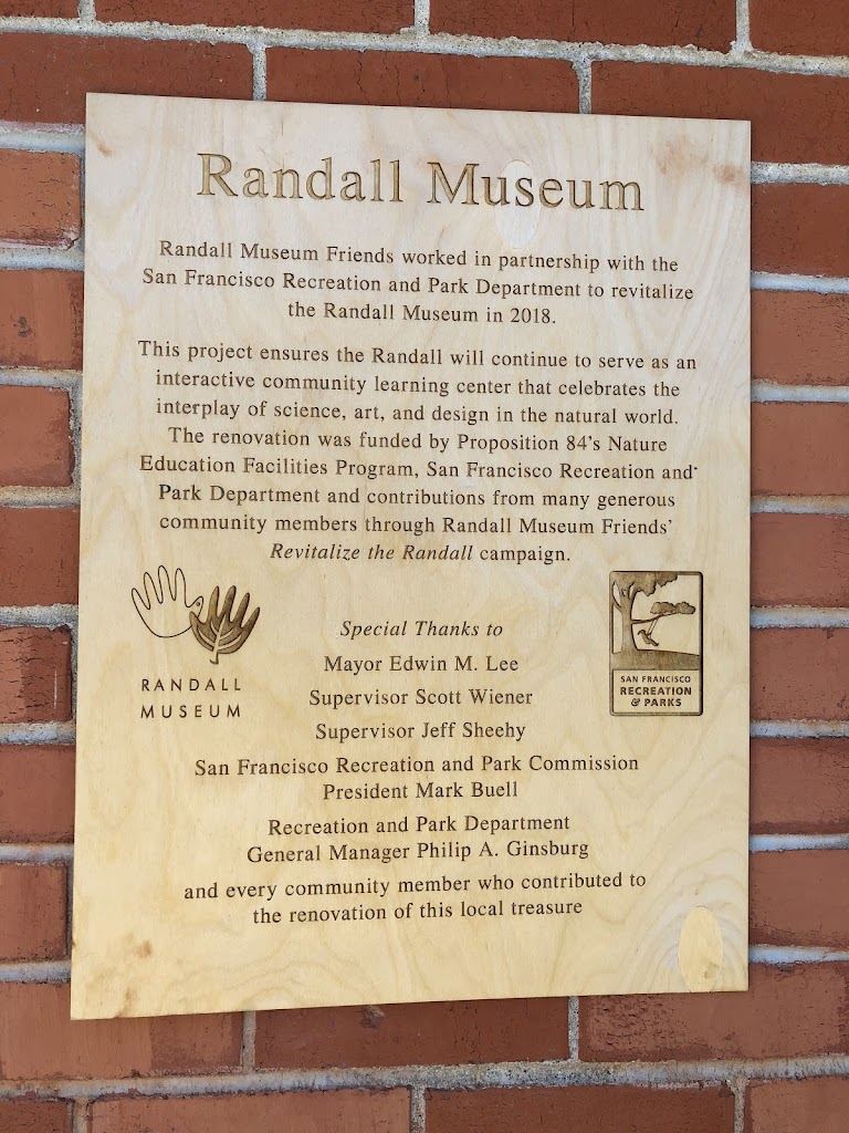 Randall Museum Randall Museum Friends worked in partnership with the San Francisco Recreation and Park Department to revitalize the Randall Museum in 2018. This project ensures the Randall will ...