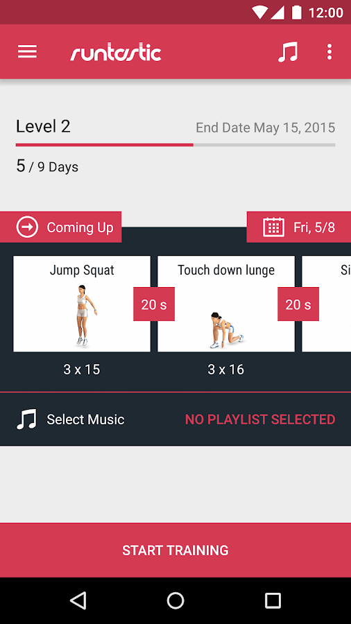 Runtastic Leg Workout Trainer Screenshot 1