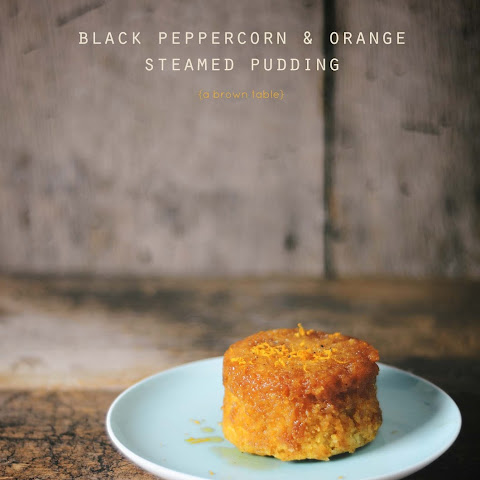 Black Peppercorn And Orange Steamed Pudding