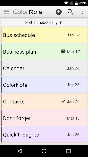 ColorNote Notepad Notes screenshot 1