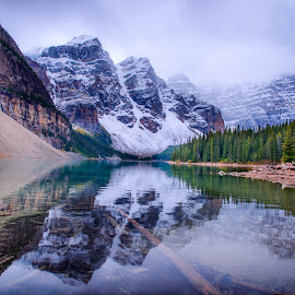 Moraine Lake by Joseph Law - Landscapes Waterscapes