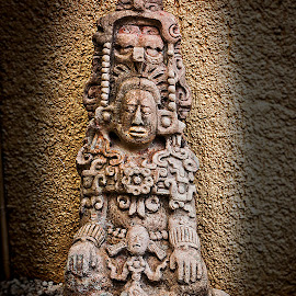 Mayan Sculpture by Sergio Yorick - Artistic Objects Still Life ( sculpture, ancient, color, artistic, object )