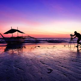Lovely Sunrise!!! by Ferdinand Ludo - Landscapes Sunsets & Sunrises ( photographer pose, lovely, march 2015, bantayan island )
