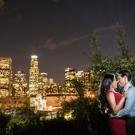 We Own The Night by Yansen Setiawan - Wedding Other ( weddings, wedding, city lights, nightshoot, downtown, engagement, city )