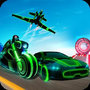 Light Bike Stunt Transform Car Driving Simulator For PC / Windows 7/8/10 / Mac – Free Download