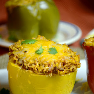 Southwest Crock Pot Stuffed Peppers