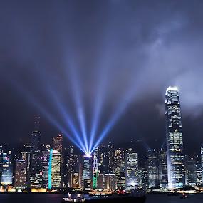 Avenue of Star, Hong Kong by Darren Tan - Buildings & Architecture Public & Historical ( hongkong, buildings, night landscape, hk, avenue of star )