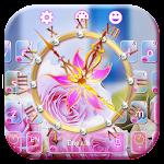 Rose Clock Diamond Keyboard Icon