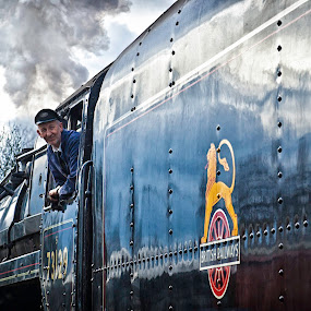 Conductor by Josh Hilton - People Street & Candids ( conductor, british, railways, railroad, train )