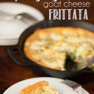 Spring Vegetable Goat Cheese Frittata