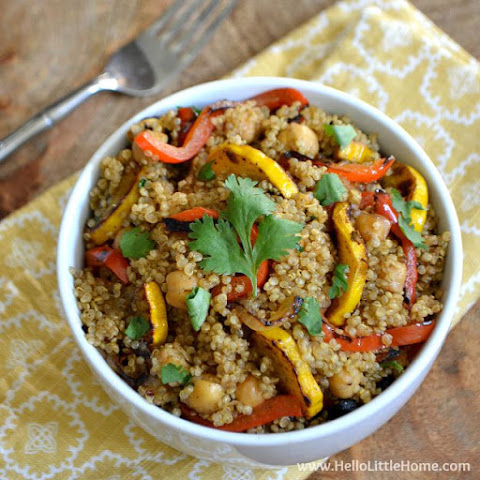 Curried Veggie, Chickpea, and Quinoa Stir Fry