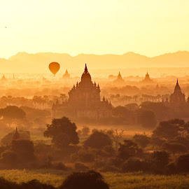 Bagan & Myanmar Better Resolution Link .......https://500px.com/photo/92555873/bagan-myanmar-by-htoo-wai by Htoo Wai - Landscapes Travel ( relax, tranquil, relaxing, tranquility )