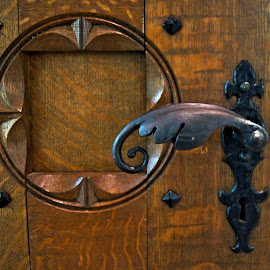 Old church door handle by Anita Berghoef - Buildings & Architecture Architectural Detail ( detail, church, door, architectural detail, architecture, close up, iron, door handle )