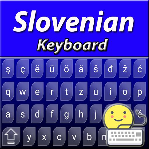 Android aplikacija Slovenian keyboard: Neon Blue Keyboard na Android Srbija