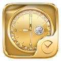 Gold Go Clock Theme APK for Bluestacks