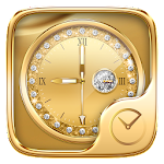 Gold Go Clock Theme Icon