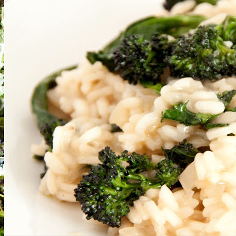 Creamy Risotto with Broccoli Spears