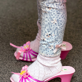 My new shoes by Stephen Crawford - Babies & Children Hands & Feet ( shoes, home, lynda's, princess, makeup, toni, dress, pink, baby, make-up, annbank, emily )