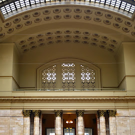 Union Station by Tricia Scott - Buildings & Architecture Other Interior ( interior, trains people, locomotive, train, transportation, trains )