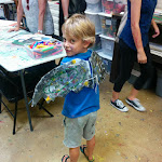 "Recycled foam 'Bat wings' during ""Superhero Showdown"" Camp"