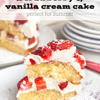 Strawberry And Vanilla Cream Cake (so Easy, A Preschooler Made It!)