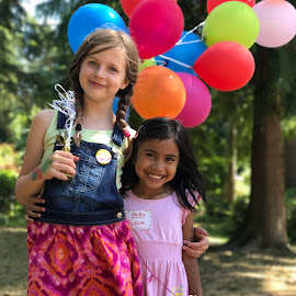 Bright with Ballons  by Betsy Bone Kirichenko - Babies & Children Child Portraits