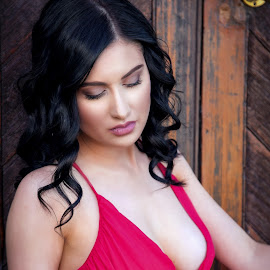 Red Dress by Chris O'Brien - People Portraits of Women ( body, girl, location, woman, beauty, red dress )
