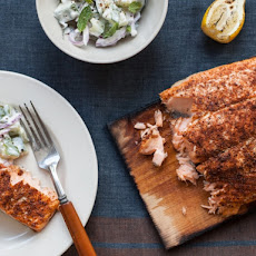 Classic Rubbed Planked Salmon