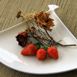 Dried Roses & Strawberries by Yanti Hadiwijono - Food & Drink Fruits & Vegetables