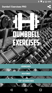 Dumbbell Exercises Pro Fitness app screenshot 1 for Android