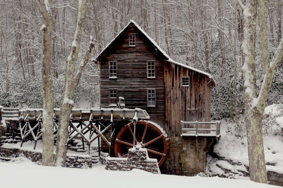 Beauty of winter in WV by Cheryl Hudnall Kincaid - Buildings & Architecture Other Exteriors (  )