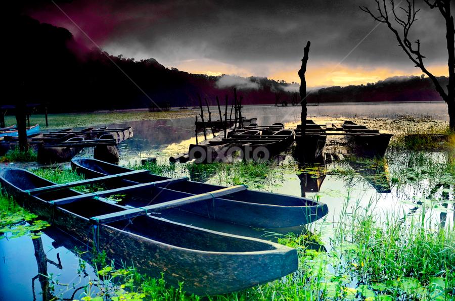 Perahu Tamblingan by Eman Sucita - Landscapes Waterscapes
