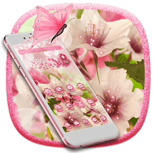 Blooming Pink Flower Theme