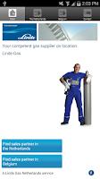 Screenshot of Linde Gas Benelux