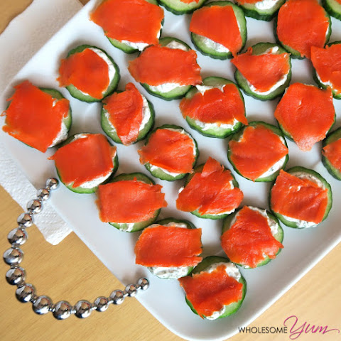 Smoked Salmon Cucumber Sliders (Low Carb, Gluten-free)
