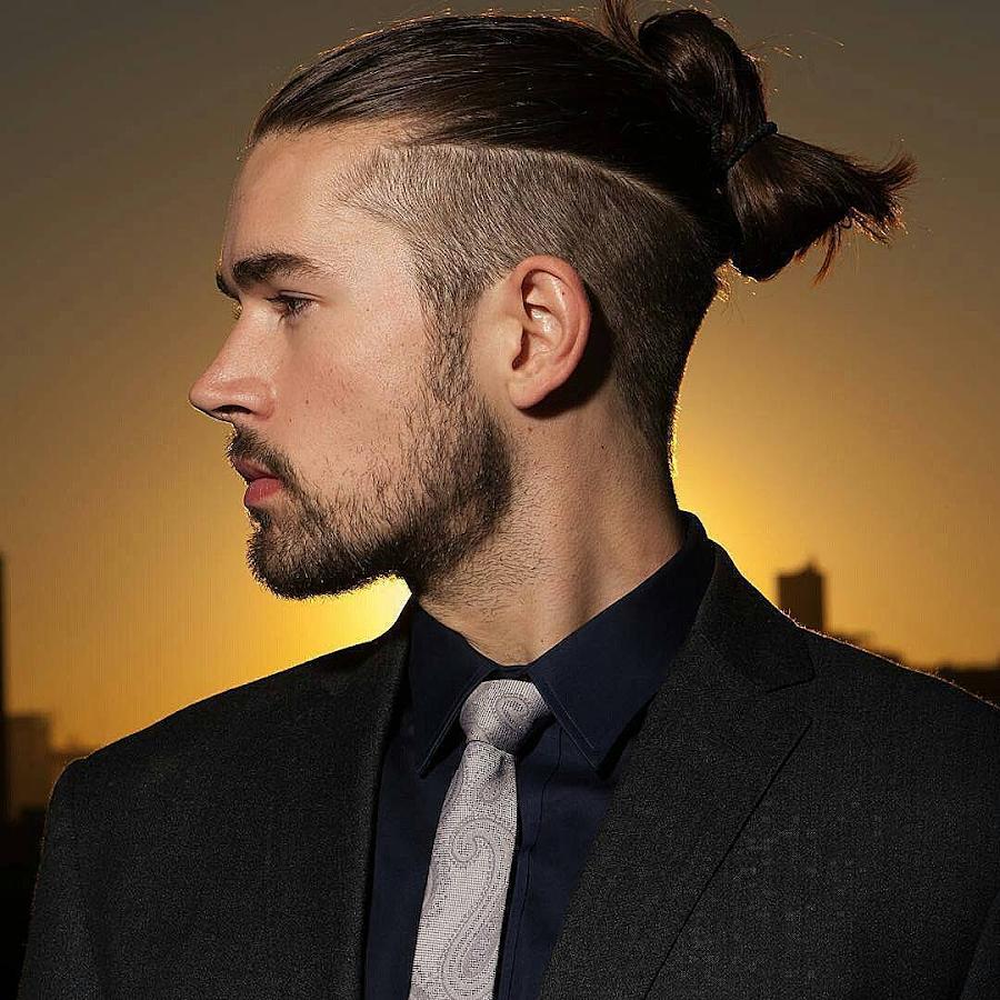 Прическа по бокам сбрито а сверху волосы