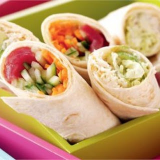 TUNA AND CRAB AND AVOCADO WRAPS