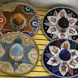 Sombreros by Cal Brown - Artistic Objects Clothing & Accessories ( cancun, clothing, mexico, artistic objects, accessories, travel photography,  )