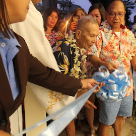 Cutting The Ribbon by Florante Lamando - Public Holidays Thanksgiving
